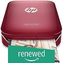 (Renewed) HP Sprocket Portable Photo Printer (Red)