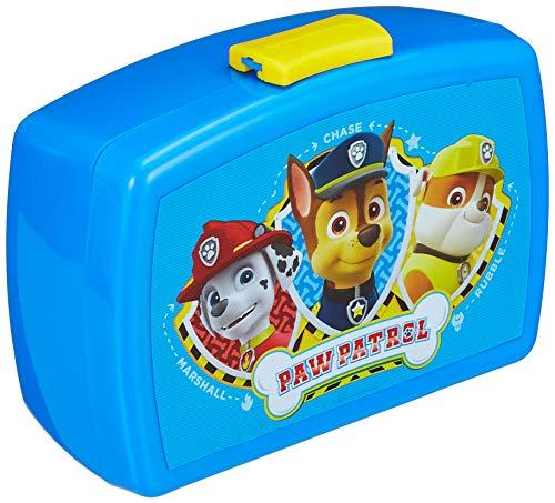 POS 28227088 - Brotdose Promo mit Einsatz im beliebten Paw Patrol Design, ca. 17 x 13, 5 x 5,5 cm, aus Kunststoff, bpa- und phthalatfrei, ideal für das Pausenbrot, für Jungen und Mädchen