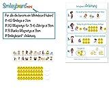 Smileyboard® mini I Für alle die bereits ein Whiteboard haben! I 40 Smiley-Magnete I 20 Aufgaben- und Belohnungsmagnete ø 3cm I 3 Blanko Magnete ø 3cm I Smileyboard® Anleitung