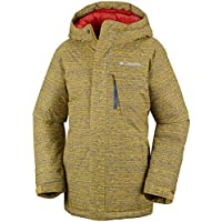 Columbia Boys Winter Jacket Alpine Free Fall, Größe:2XS, Farbe:Golden Yellow Texture Print