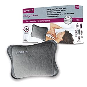 Brand New Reusable Electric Hot Water Bottle - No Water Needed, Slate Grey