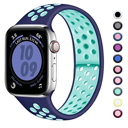 Zekapu Compatibile con Apple Watch Cinturino 38mm 40mm, Cinturino Sport Morbido Silicone Ricambio Cinturini per iWatch Series...