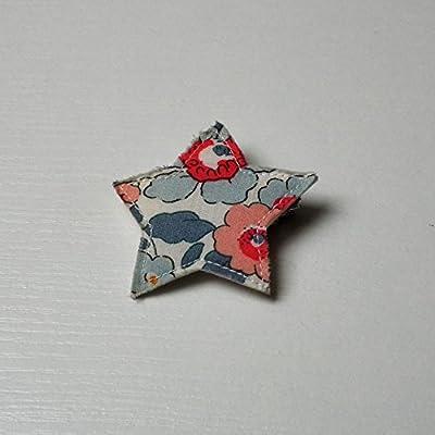 Barette Etoile petite taille Liberty Betsy Porcelaine Barette Etoile petite taille Liberty Betsy Porcelaine
