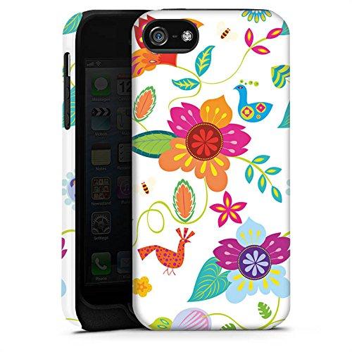 Apple iPhone 4 Housse Étui Silicone Coque Protection couleurs Fleurs Fleurs Cas Tough terne