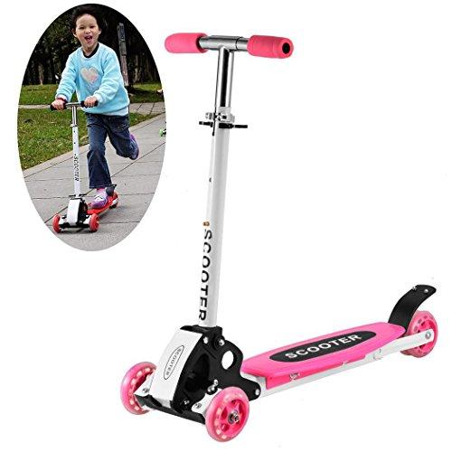 Beautytalk Scooter Kickboard Kinderroller verstellbar und Faltbar mit 4 Räder ab 3 Jahren bis Max. 50kg DE Lager