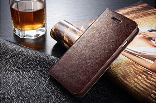 Coque Pour iPhone 6/6s, iNenk® PU cuir portefeuille téléphone sac à main affaire titulaire Shell mode Flip téléphone solide manchon protection pour hommes et femmes-marron Brown