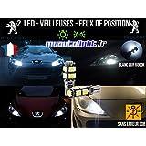 Ampoules Feux de position LED - Peugeot 206+- W5W blanc Xénon