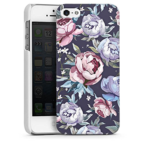 Apple iPhone 4 Housse Étui Silicone Coque Protection Fleurs Fleurs Roses CasDur blanc