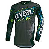 O'Neal Element Villain Motocross Kinder Jersey MTB Mountain Bike Trikot Enduro MX FR DH Kids, 002E-9-Youth, Farbe Grau, Größe L