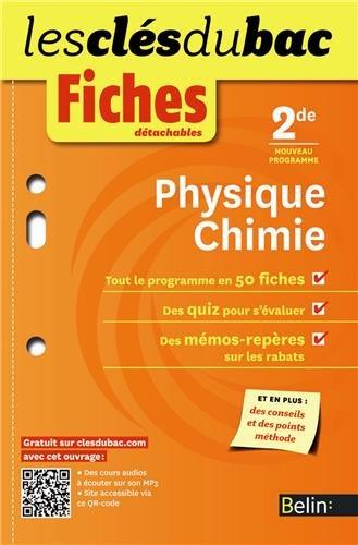 Fiches détachables Physique-chimie 2de