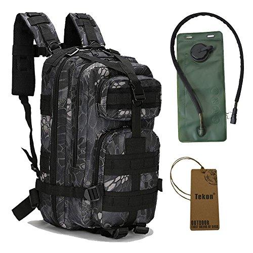 Militär-Rucksack inklusive Trinkblase Black Python Pattern
