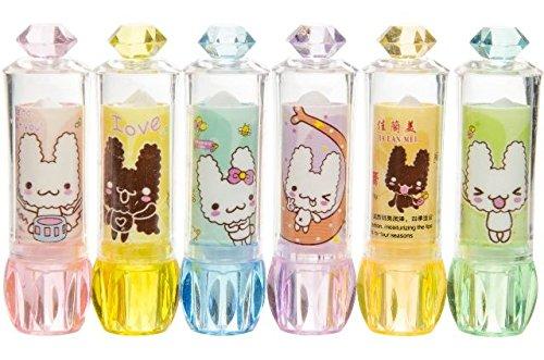 6x-lippenbalsam-lipgloss-mitgebsel-weiss-mit-katzchen-diamantenlook-kindergeburtstag-madchenparty