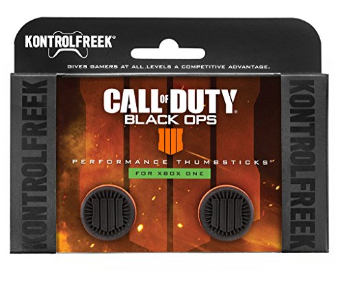 KontrolFreek Call of Duty: Black Ops 4 für Xbox One Controller | Performance Thumbsticks | 2 Erhöhte | Schwarz/Orange