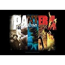 Heart Rock Bandera Original Pantera álbum Collage, tela, multicolor, 110x 75x 0.1cm
