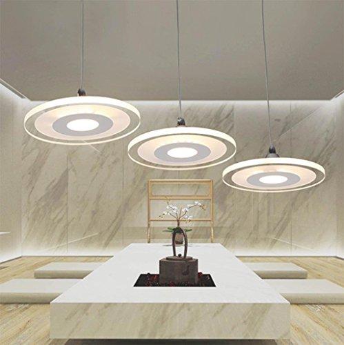 Restaurant Kronleuchter drei moderne minimalistische Restaurant Lampe Kronleuchter runde Kristall Pendelleuchte Speisesaal Tisch 66 * 100CM, 5 head diameter 90 * 100cm (warm white 60w) high quality (Runde-tisch-kronleuchter)
