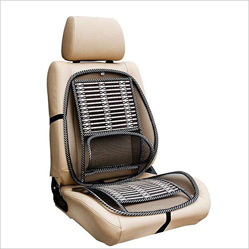 Coprisedile universale HomDSim, per le macchine, per l'estate, con cuscino per supporto lombare, fresco e rinfrescante, per ufficio e casa, con rete metallica in acciaio inox
