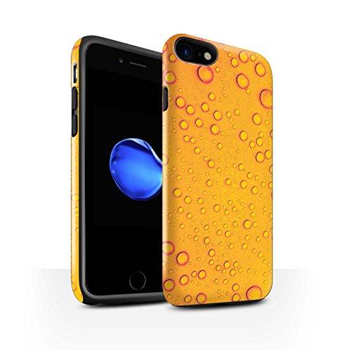 STUFF4 Glanz Harten Stoßfest Hülle / Case für Apple iPhone 8 / Blau Muster / Wassertropfen Kollektion Orange/Gelb