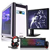 Komplett PC Set Gaming M25W, i7-8700K 6x3.7 GHz, 24 Zoll TFT, Maus Tastatur Headset, 32GB DDR4, 1TB HDD + 120GB SSD, GTX1070Ti 8GB, Windows 10 Spiele Computer zusammengestellt in Deutschland Rechner