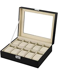 SONGMICS Caja para Guardar Relojes de Pulsera JWB010