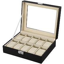 Songmics Scatola Porta Orologi Custodia per 10 Orologi JWB010