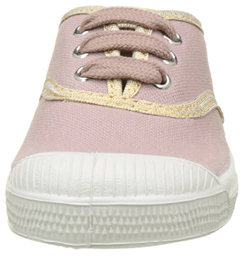 Bensimon Tennis Lacet Shinypiping, Baskets Basses Fille Rose (Vieux Rose)