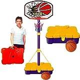 Canasta de baloncesto infantil, con maletín de transporte