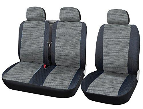 WOLTU AS7333 Coprisedili Anteriori Universali per Auto Seat Cover Protezione per Sedile della Macchina Poliestere Grigio/Nero