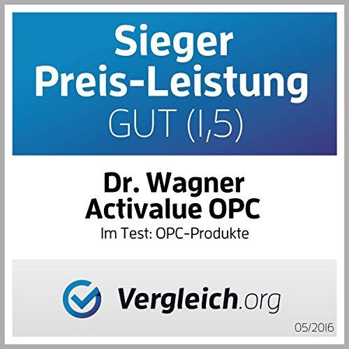 ***Derzeit zum Aktionspreis (EUR 19,95) AUSVERKAUFT und in Kürze wieder lieferbar.*** Der neue TESTSIEGER* OPC Test 2016 vergleich.org: das ORIGINAL von Dr.med.Wagner in der VORTEILS-Packung für 4 Monate, 250mg echtes OPC pro Kapsel, 100% vegan, mit NATÜRLICHEN Vitaminen C, E und beta-carotin, OHNE Magnesiumstearat, deutsche Premium-Qualität. -