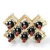 Portabottiglie ripiano portabottiglie sospeso portabottiglie portabottiglie espositore per Bottiglie di Vino per Uso Domestico portabottiglie Pieghevole