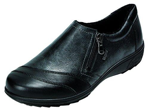 DocComfort , Chaussures de ville à lacets pour femme Noir schwarz Weite H schwarz Weite H