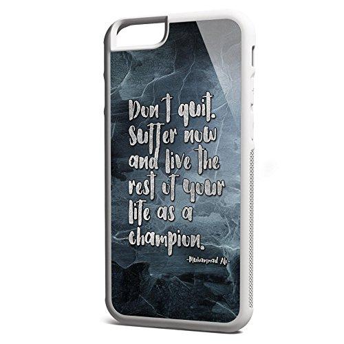 Smartcover Case Dont Quit z.B. für Iphone 5 / 5S, Iphone 6 / 6S, Samsung S6 und S6 EDGE mit griffigem Gummirand und coolem Print, Smartphone Hülle:Samsung S6 EDGE weiss Iphone 6 / 6S weiss