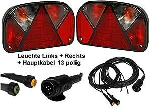Aspöck multipoint 13polig de 2–leuchten-câble 5 m 2 x 3 m sortie dC