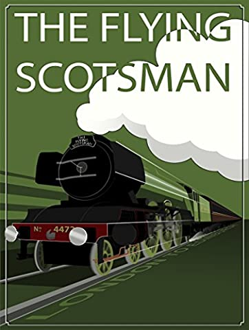 THE FLYING SCOTSMAN SIGN RETRO METAL TIN WALL PLAQUE SIGN NOVELTY GIFT