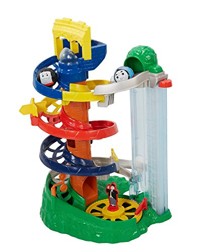 Image of Fisher Price Toy - My First Thomas and Friends - Rail Rollers Spiral Station with Thomas and Diesel