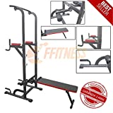 Power Tower Dip Bar con Panca Barra trazioni Stazione di Allenamento Chin up Sit up Coppia parallele Attrezzatura Multifunzionale Multifunzione Home Gym Fitness in casa