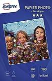 Avery MMR Pack de 50 Papiers photo Brillant A4 Blanc