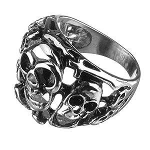 Edelstahl-Ring Totenkopf, Scream, Skull, Biker, Gothic