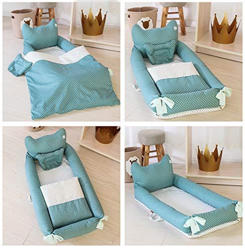 WNZL Baby Lounger, Co Sleeping Baby Stubenwagen - Babybett aus Baumwolle Premium-Qualität und größere Größe (0-24 Monate) - Atmungsaktives, hypoallergenes, tragbares Kinderbett,2 -