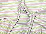 Free Spirit Tanya Whelan Delilah Stripe Poplin Quilting Fabric Green - per fat quarter