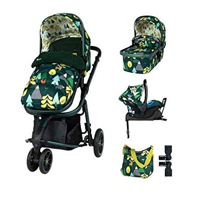 Cosatto Giggle 3 Travel System in Into The Wild with Car Seat Base Bag footmuff & Raincover