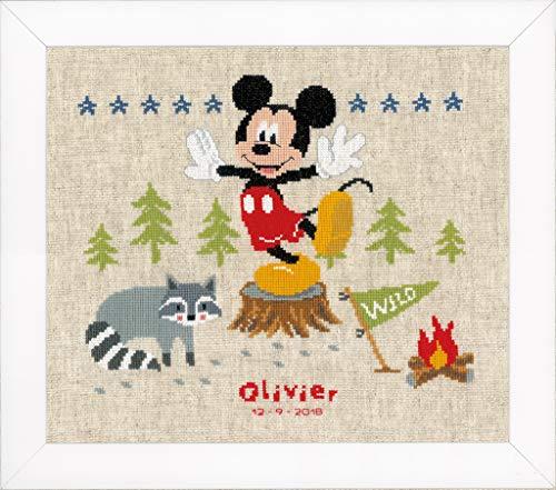 Vervaco–Kit de Punto de Cruz Disney woodys Aventura, Cruz Cruz, algodón, 29x 26x 0,3cm