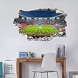 Wandtattoo, Aufkleber - 3D Wandtattoo FCB Stadion Immer weiter - 60x36 cm - Art. Nr. FCB10232 - Wall-Art