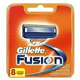 Gillette Fusion - Pack de recambios de maquinilla de afeitar para hombre, 8 Unidades