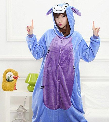 Imagen de happy cherry  pijama ropa de dormir adulto unisex traje de disfraz para halloween cosplay navidad con capucha hombre mujer  burro  talla xl alternativa