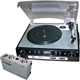 Pyle Turntable Record Player and Pre-Amplifier Package - PLTTB9U USB Turntable with direct-to-digital