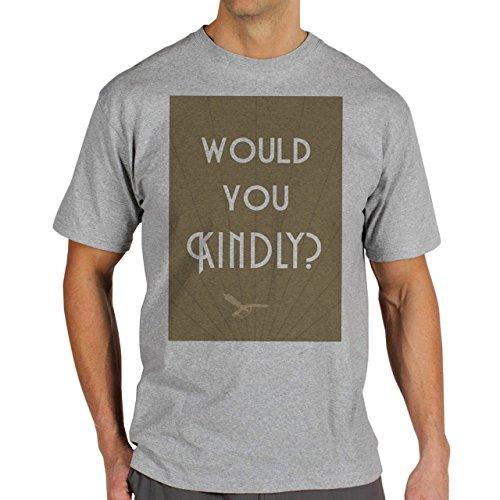 Would You Kindly Help Me Background Herren T-Shirt Grau