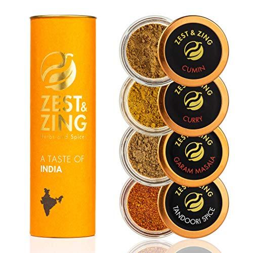 Caja de regalo Especias de India (Curry, Tandoori, Cumino, Garam Masal