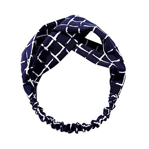owknot formte Blumenstreifen-Muster Stirnband Headwrap Art und Weise Fascinator Kopfbedeckung Schmuck Haar-Band-Krawatte (Blume Gilr Kleider)