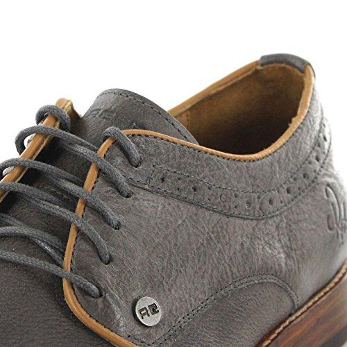 FB Fashion Boots Rehab Schuhe Luca Smoke/Halbschuh Herren Grau/Lederschuhe Herren/Schnürschuhe Smoke