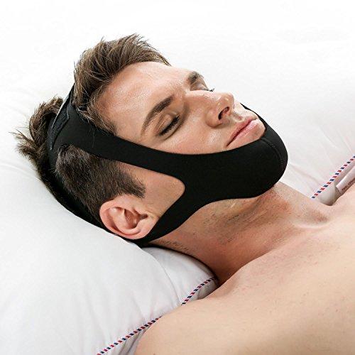 Tiowea Nylon Anti Snore Gurt Easy Sleep Verstellbare Stop Schnarchen Kinnriemen Schlaflosigkeit